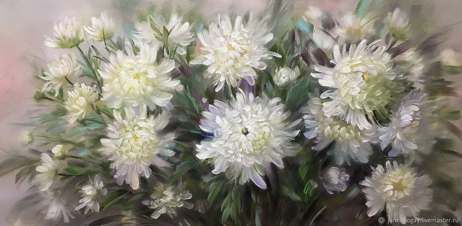 White chrysanthemums, Pictures, Moscow,  Фото №1