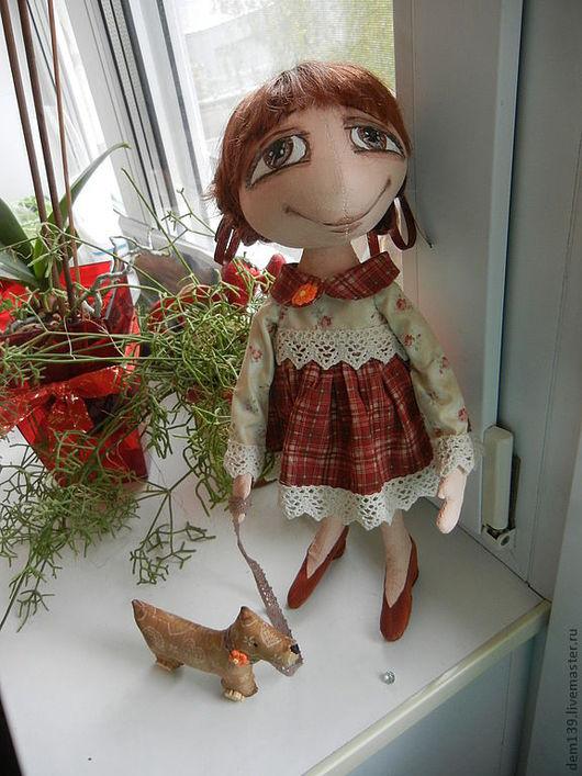 """Коллекционные куклы ручной работы. Ярмарка Мастеров - ручная работа. Купить """"Давай поиграем? """"  кукла из грунтованного текстиля. Handmade."""