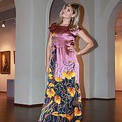 Одежда ручной работы. Ярмарка Мастеров - ручная работа Платье батик Шкатулка. Handmade.