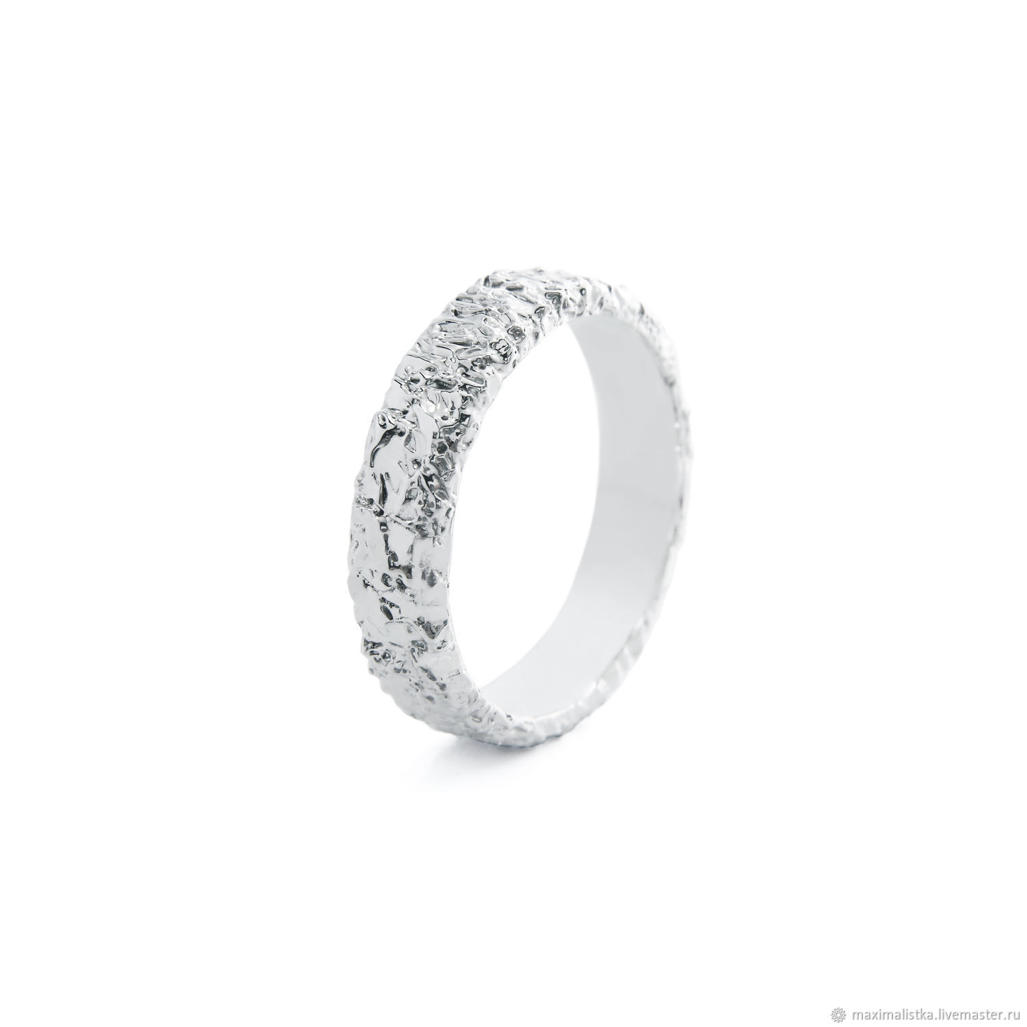 Rings handmade. Livemaster - handmade. Buy Gold ring 'moon' in white gold 585, rhodium plated.White, custom
