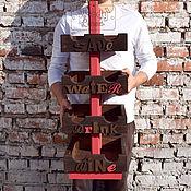 Для дома и интерьера ручной работы. Ярмарка Мастеров - ручная работа Подставка для бутылок Color Lines Lettering. Handmade.