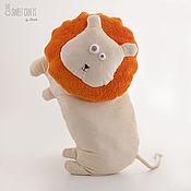Для дома и интерьера ручной работы. Ярмарка Мастеров - ручная работа Подушка-игрушка Лев. Handmade.