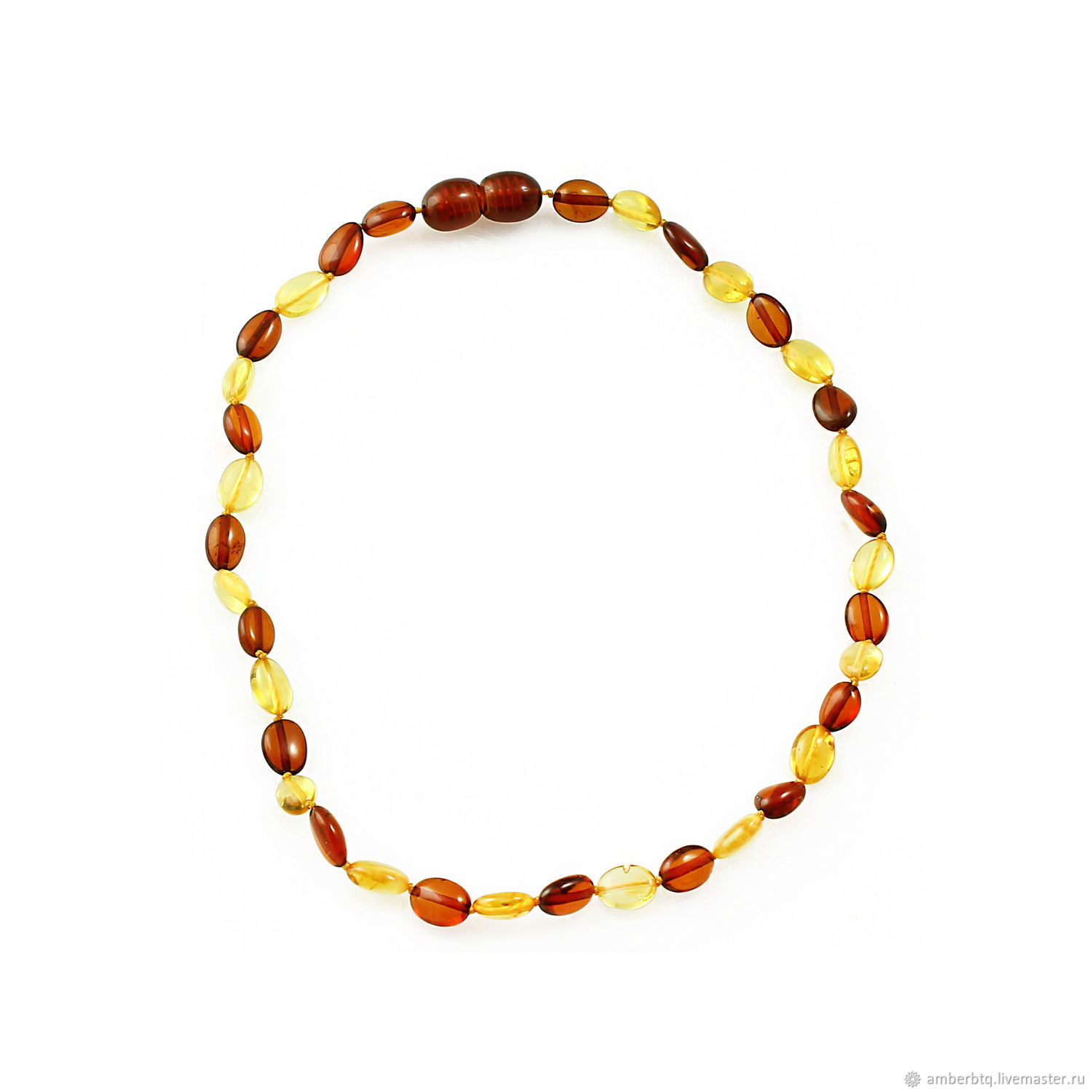 Children's beads made of processed amber ' Firebird», Beads2, Kaliningrad,  Фото №1