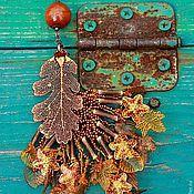 """Украшения ручной работы. Ярмарка Мастеров - ручная работа кулон """"Осенние звёзды"""". Handmade."""