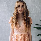 Одежда ручной работы. Ярмарка Мастеров - ручная работа Платье SS17 , свадебное платье, белое платье, кружевное платье. Handmade.