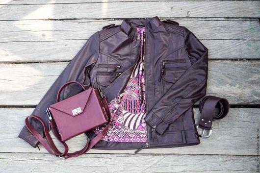 Верхняя одежда ручной работы. Ярмарка Мастеров - ручная работа. Купить Куртка из натуральной кожи. Кожаная куртка. Handmade.