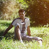 """Одежда ручной работы. Ярмарка Мастеров - ручная работа """"Русские мотивы"""" мужское поло с коротким рукавом. Handmade."""