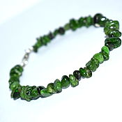 Украшения handmade. Livemaster - original item Bangle chrome diopside - Sakha emerald. Handmade.