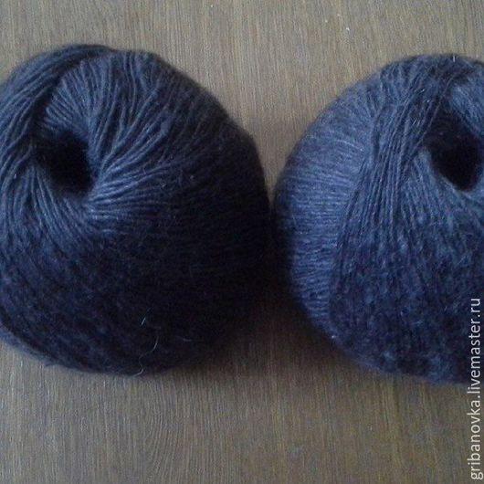Вязание ручной работы. Ярмарка Мастеров - ручная работа. Купить Серая пуховая пряжа. Handmade. Серый, пуховые нитки