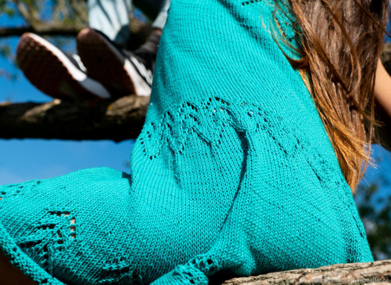 Платье круговой ажурной вязки на спицах, Платья, Нижний Новгород,  Фото №1