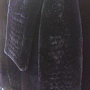 Одежда ручной работы. Ярмарка Мастеров - ручная работа Пальто меховое, шуба из фиолетового бобра. Handmade.
