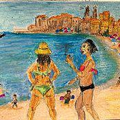 Картины и панно ручной работы. Ярмарка Мастеров - ручная работа Сицилийские синьорины .. Handmade.