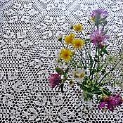 """Для дома и интерьера handmade. Livemaster - original item Tablecloth knitted """"wild flowers"""". Handmade."""