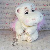 Куклы и игрушки handmade. Livemaster - original item Hippo with wings. Handmade.