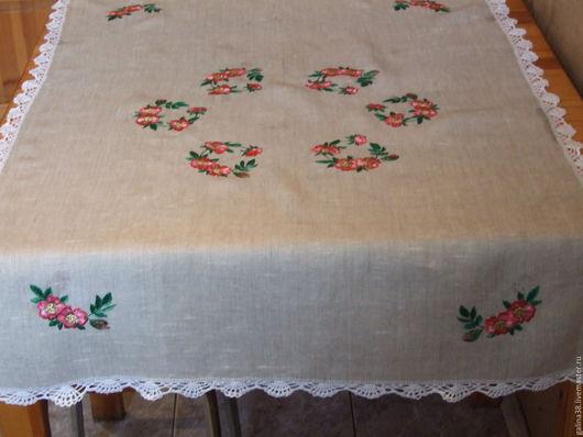 Текстиль, ковры ручной работы. Ярмарка Мастеров - ручная работа. Купить Скатерть вышитая. Handmade. Серый, для дома и интерьера