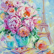 Картины и панно handmade. Livemaster - original item Oil painting on 3D canvas. Diary Of Paris.. Handmade.