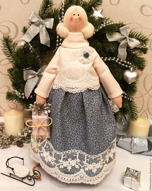 Джейн. Фея Рождества. Кукла Тильда.