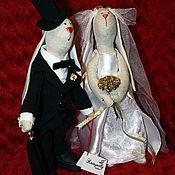 Свадебный салон ручной работы. Ярмарка Мастеров - ручная работа Свадебные зайки. Handmade.