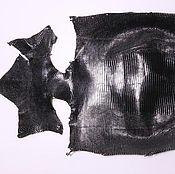 Материалы для творчества handmade. Livemaster - original item Lizard skin, abdominal part. Handmade.