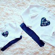 Одежда ручной работы. Ярмарка Мастеров - ручная работа Свитера (пара) вязанные спицами (family look). Handmade.