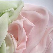 Шарф розово-салатовый пастельный градиент