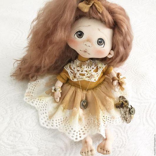 Коллекционные куклы ручной работы. Ярмарка Мастеров - ручная работа. Купить Ангелошенька (авторская работа). Handmade. Оранжевый, кукла текстильная