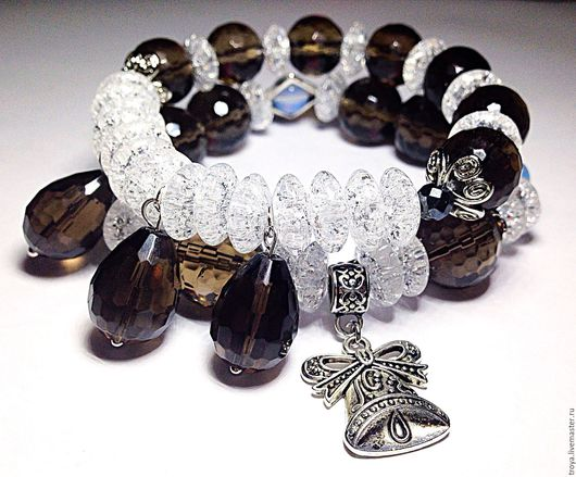 """Браслеты ручной работы. Ярмарка Мастеров - ручная работа. Купить Сет браслетов """"Праздничный"""". Handmade. Комбинированный, браслет из камней"""