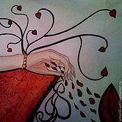 Субкультуры ручной работы. Ярмарка Мастеров - ручная работа Алые лепестки. Handmade.