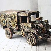 Для дома и интерьера ручной работы. Ярмарка Мастеров - ручная работа Машинка-шкатулка в стиле Стимпанк. Handmade.