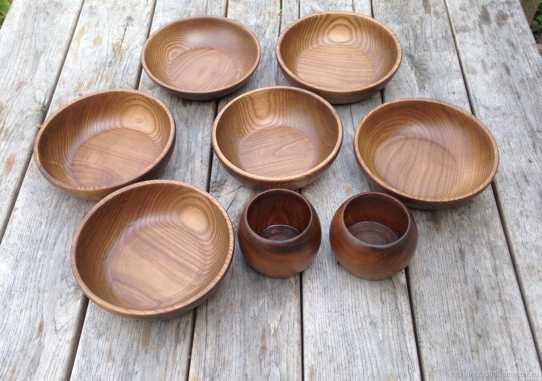 Декоративная посуда ручной работы. Ярмарка Мастеров - ручная работа. Купить Посуда из ясеня, тонированная. Handmade. Посуда ручной работы