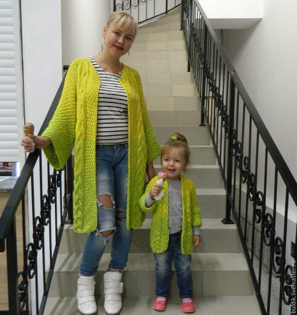 Вязание на маму и дочку