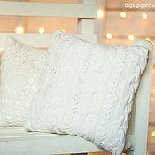Для дома и интерьера ручной работы. Ярмарка Мастеров - ручная работа Вязаные подушки. Handmade.