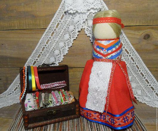 Обереги, талисманы, амулеты ручной работы. Ярмарка Мастеров - ручная работа. Купить Кукла на удачное замужество - 7 воротничков. Handmade.