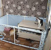 Для домашних животных, ручной работы. Ярмарка Мастеров - ручная работа Вольер - манеж для котят. Handmade.