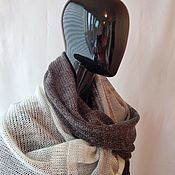Аксессуары handmade. Livemaster - original item Snudy: snud a wide in two turnover a grey black gradient 184. Handmade.