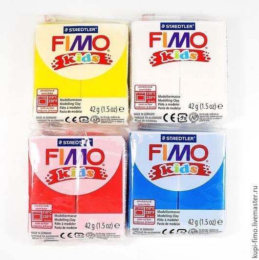 Для украшений ручной работы. Ярмарка Мастеров - ручная работа. Купить Fimo Kids мягкая полимерная глина для детей. Handmade.