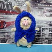 Куклы и игрушки ручной работы. Ярмарка Мастеров - ручная работа Вязанная игрушка - Заяц, подарок. Handmade.