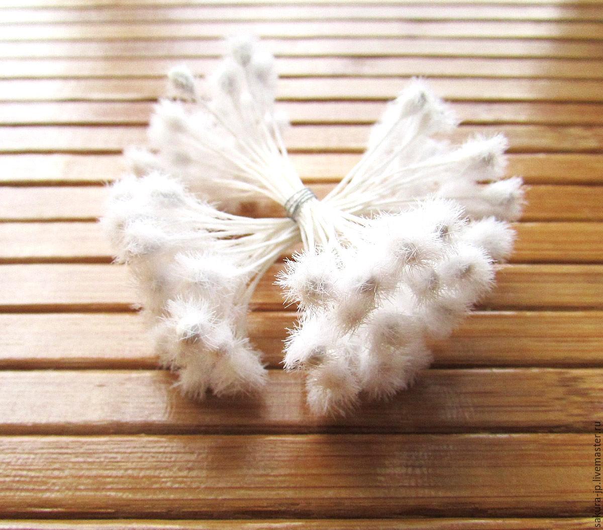 Japanese fluffy stamens. ` SAKURA` - materials for citadele. Fair Masters.