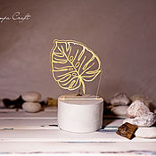 Для дома и интерьера ручной работы. Ярмарка Мастеров - ручная работа Ночник-Лист. Handmade.