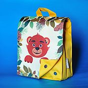 Работы для детей, ручной работы. Ярмарка Мастеров - ручная работа Рюкзак детский с принтом Мишка. Handmade.
