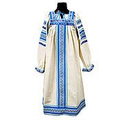 Русский стиль handmade. Livemaster - original item Copy of Copy of Сotton dress for woman and girl Nadia. Handmade.
