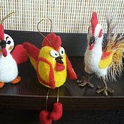 Куклы и игрушки ручной работы. Ярмарка Мастеров - ручная работа Петушки новогодние. Handmade.