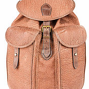 Сумки и аксессуары handmade. Livemaster - original item Leather backpack