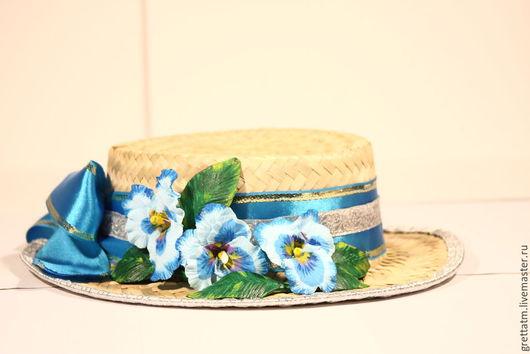 Шляпка`Анютинины глазки`