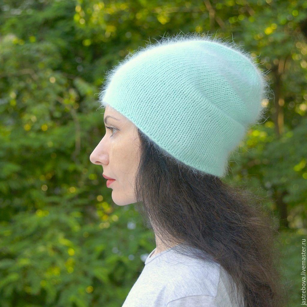 Вязание шапочки из ангоры