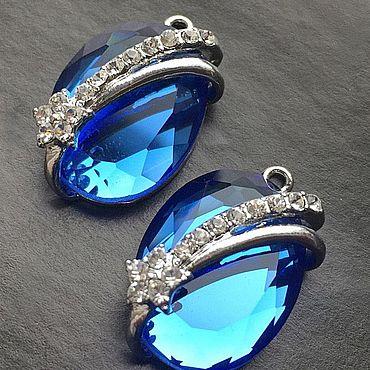 Materials for creativity handmade. Livemaster - original item Suspension art. 7-64A with blue crystal. Italy. Handmade.