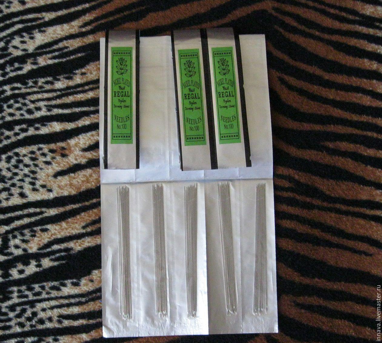 Иглы для вышивания бисером 10 см, Инструменты, Москва, Фото №1