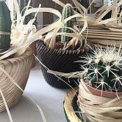 Кашпо ручной работы. Ярмарка Мастеров - ручная работа Кашпо: горшочек из дерева. Handmade.