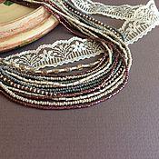 """Украшения ручной работы. Ярмарка Мастеров - ручная работа Колье """"Цветущий вереск"""". Handmade."""