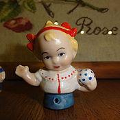 Винтаж ручной работы. Ярмарка Мастеров - ручная работа Малыш half doll Пупс с мячиком. Handmade.